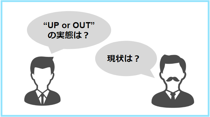 UP or OUTの実態と現状